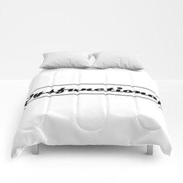 Dysfunctional logo Comforters