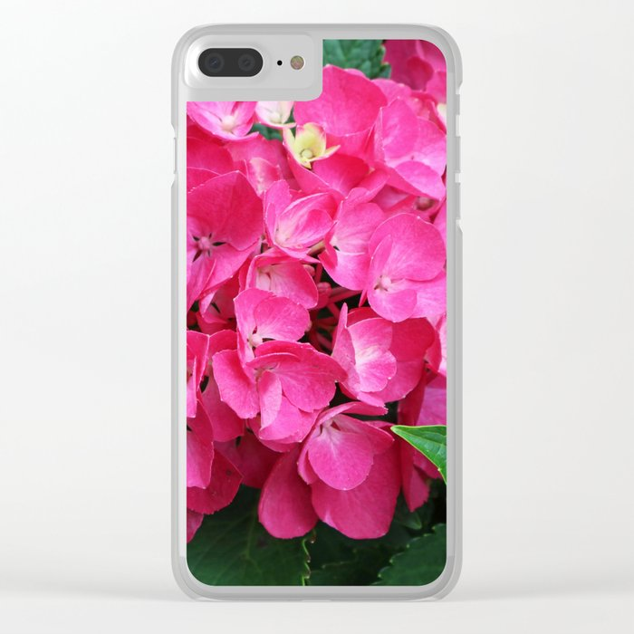 Spring Hydrangea Clear iPhone Case