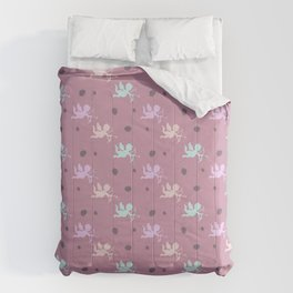 Cupids on pink Comforters