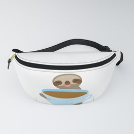 sloth & coffee 3 Fanny Pack