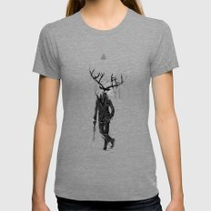 A Fine Lunch Sketch Tri-Grey SMALL Womens Fitted Tee