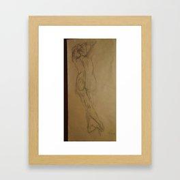 Back Study Framed Art Print