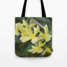 pretty light yellow garden flowers. floral photography. Tote Bag