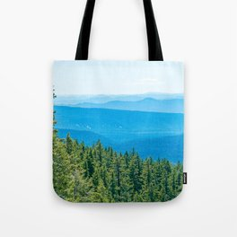 Artistic Brush // Grainy Scenic View of Rolling Hills Mountains Forest Landscape Photography Tote Bag