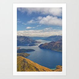 Roys Peak Lookout 2 Art Print