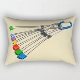 Rock Climbing Wires Rectangular Pillow