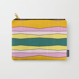 Colorful Striped Design Lines Carry-All Pouch