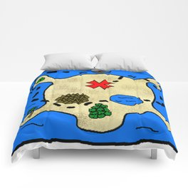 Skull Treasure Map Comforters