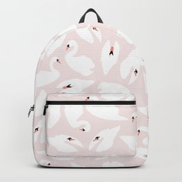 Swan Pattern on Pink 030 Backpack