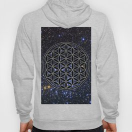 Flower of life in the space Hoody