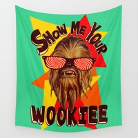 chewbacca Wall Tapestries featuring Show Me Your Wookiee!  |  Chewbacca  by Silvio Ledbetter