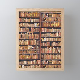 Books, books, books Framed Mini Art Print