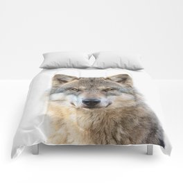 Wolf Portrait Comforters