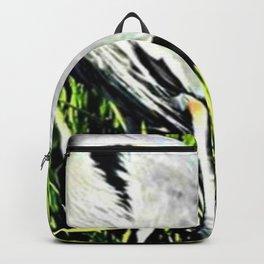 Heron Standing Signed Backpack