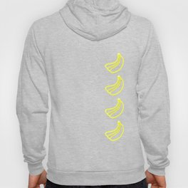 Neon Bananas Fruit Lover Glow Party Costume Funny Hoody