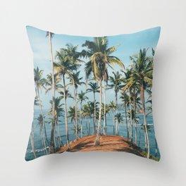 Palm trees 4 Throw Pillow