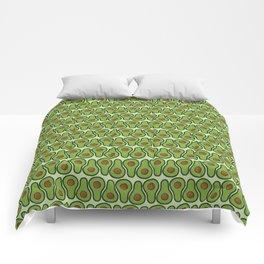 Avocado Doodle Pattern - Taco Series Comforters