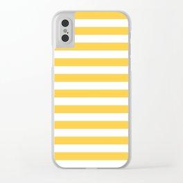 Stripes (Orange & White Pattern) Clear iPhone Case