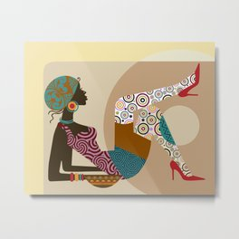 Afrocentric Chic VIII Metal Print
