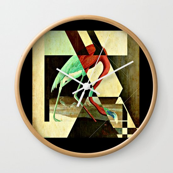 Flamingo Duet 2 Wall Clock