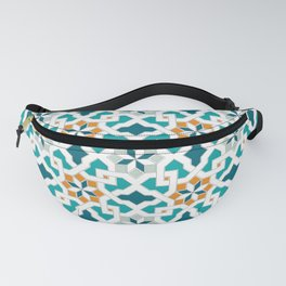 Geometric Pattern, oriental style (blue color set)  traditional morocco tile pattern Fanny Pack