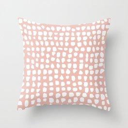Dots / Pink Throw Pillow
