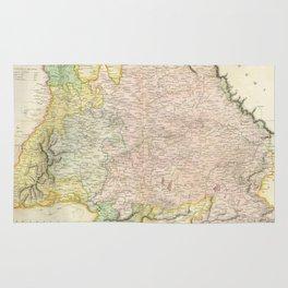Vintage Map of Bavaria Germany (1814) Rug