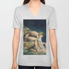 "William Blake ""Newton"" Unisex V-Neck"