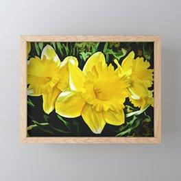 The Yellow Daffodil Happy Easter Framed Mini Art Print