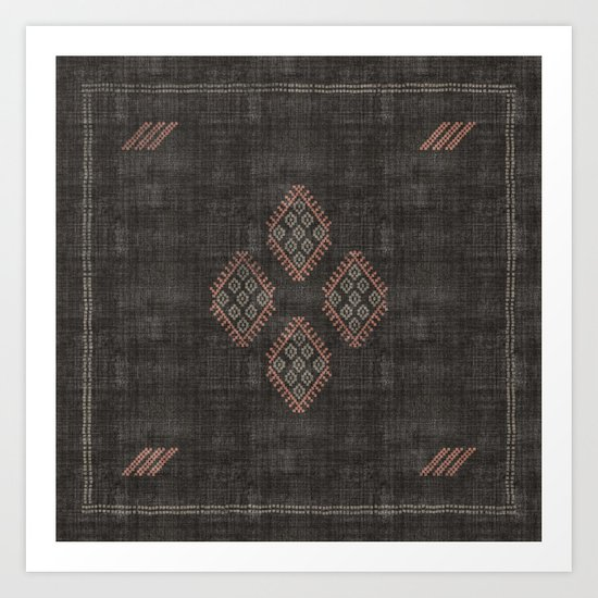 Kilim in Black and Pink by beckybailey1