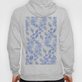 Blue Floral Pattern (Color) Hoody
