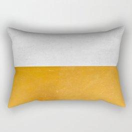 Wabi Sabi - Gold and Grey Texture Rectangular Pillow