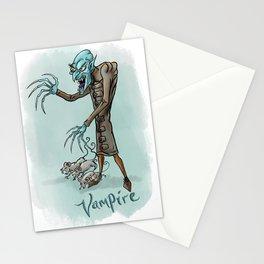 Vampire illustration Stationery Cards