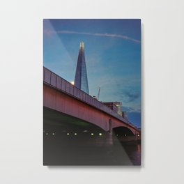 London Bridge and The Shard over the River Thames Metal Print