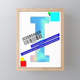 "Cocktail ""I"" - Icebreaker Framed Mini Art Print"