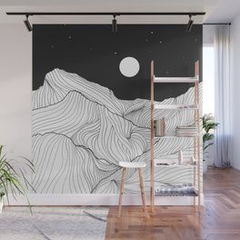 Lines in the mountains II Wall Mural