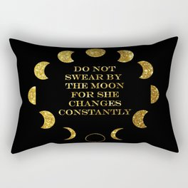Moon Phases Gold Rectangular Pillow