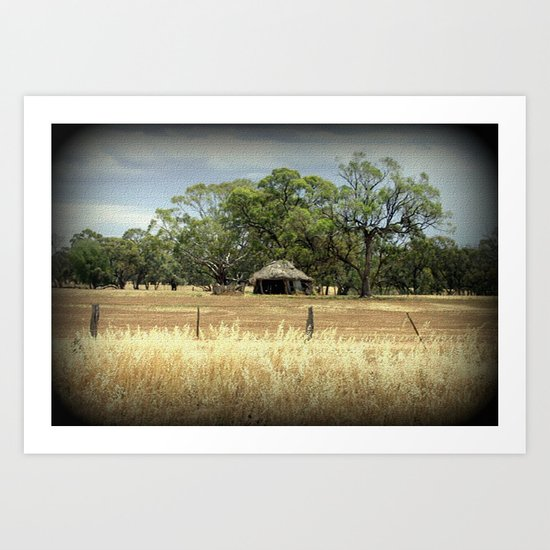 Mid 1800s Thatched Barn Art Print