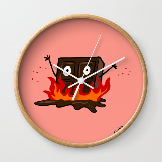 Spicy Chocolate Wall Clock