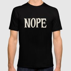 Nope Mens Fitted Tee Black MEDIUM