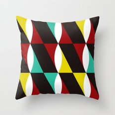Red, Yellow & Blue Twist Throw Pillow