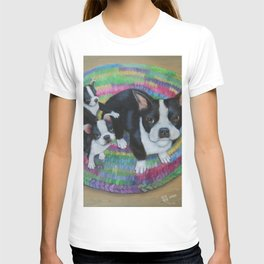 Boston Terrier and Puppies T-shirt