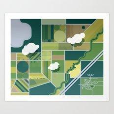 30,000 ft. Art Print