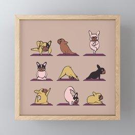French Bulldog Yoga Framed Mini Art Print