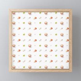 Icing Cookie Pattern_Bright Framed Mini Art Print