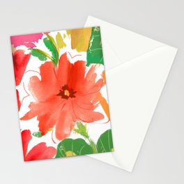 nasturtium floral Stationery Cards