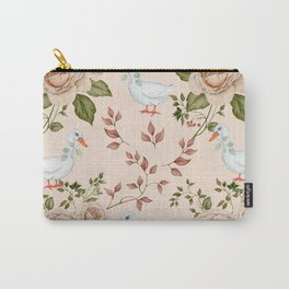 Goose Rose Carry-All Pouch