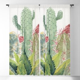 Cactus Watercolor Blackout Curtain