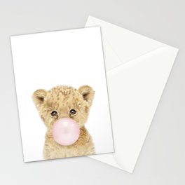 Bubble Gum Lion Cub Stationery Cards