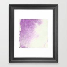 purple watercolor Framed Art Print